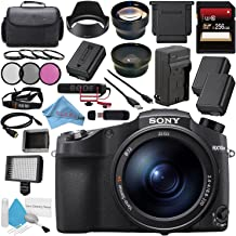 Sony Cyber-Shot DSC-RX10 IV DSCRX10M4/B Digital Camera + 256GB SDXC Card + NP-FW50 Lithium Ion Battery + External Rapid Charger + 72mm 3 Piece Filter Kit + 72mm Macro Close Up Kit Bundle