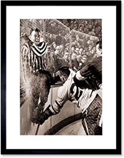 Sport Vintage Photo ICE Hockey SLAM Howe Hannigan Framed Art Print & F12X1118