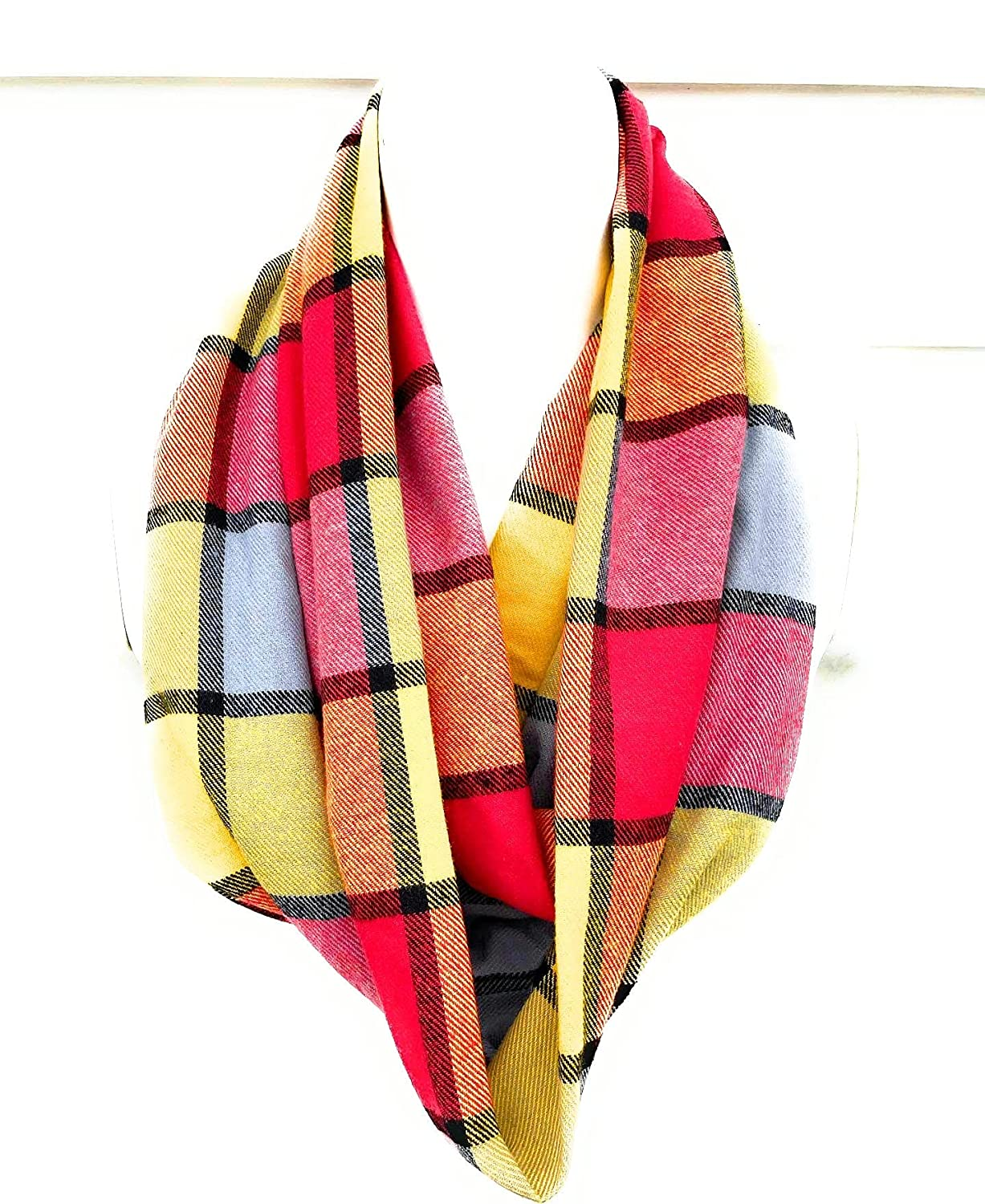 Special price for a limited time Fall Flannel Plaid Scarf Time sale Infinity