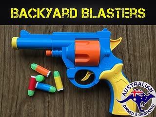 Backyard Blasters Realistic 1:1 Scale .45 ACP Revolver Prop - Rubber Bullet Pistol Toy Gun - British Bull-Dog Revolver