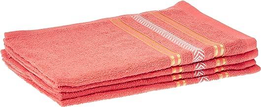 Panache Exports Regal Hand Towel Set, Coral, 38 cm x 58 cm, PEREGHAN01, 4 Pieces