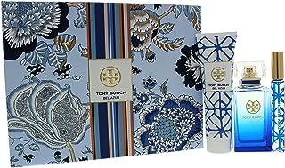 Tory Burch Bel Azure 3 Piece Gift Set Eau De Parfum Spray, Eau De Parfum Rollerball & Body for Women