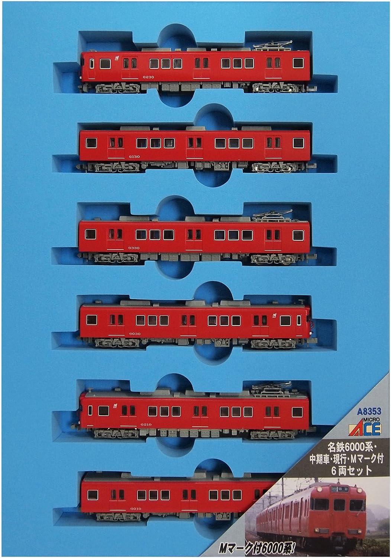 Ahorre 60% de descuento y envío rápido a todo el mundo. Meitetsu Series 6000 Middle Production, Current, with [M]-mark [M]-mark [M]-mark (6-Coche Set) (Model Train)  tienda hace compras y ventas