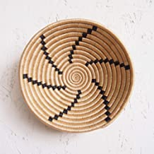 Small African Basket- Tanga/Rwanda Basket/Woven Bowl/Sisal & Sweetgrass Basket/Tan, Black