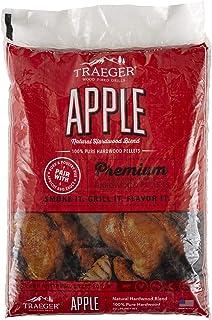 Traeger Grills PEL318 Apple 100% All-Natural Hardwood Pellets - Grill, Smoke, Bake, Roast, Braise, and BBQ (20 lb. Bag)