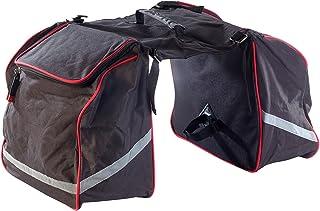 Xcase Fahrradtasche: Doppel-Gepäckträgertasche, wasserabweisend, mit Reflektions-Streifen Velotasche