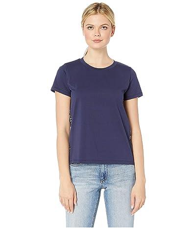 MICHAEL Michael Kors Logo Side Stripe Tee (True Navy) Women