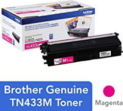 Brother Genuine High Yield Toner Cartridge, TN433M, Replacement Magenta Toner, Page Yield Up To 4,000 Pages, Amazon Dash Replenishment Cartridge, TN433