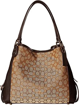 8cf2fbe81f3c Coach signature edie 31 shoulder bag li khaki brown 1