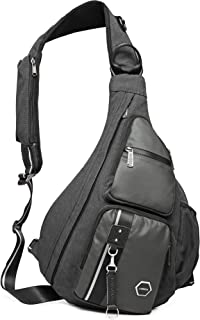Large Sling Bag Backpack, Chest Crossbody Bags Sling Shoulder Backpacks One Strap Multipurpose Daypack Laptops Travel Outd...