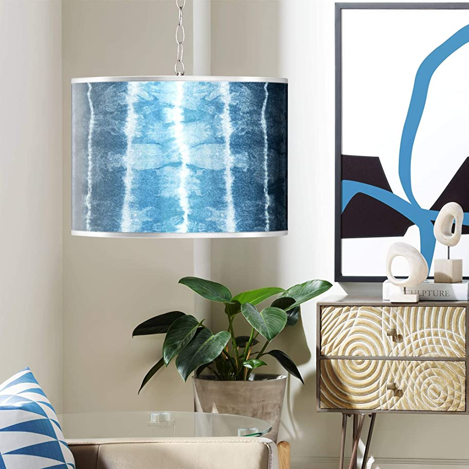 Swag Style Cool Reflections Silver Metallic Plug-in Chandelier - Giclee Gallery