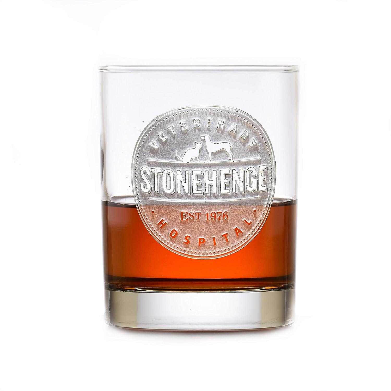 Your Logo Engraved On 12 Whiskey Barw Rocks Bourbon 100% quality warranty! Glass Max 84% OFF Scotch