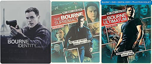 Jason Bourne Legacy Steelbook Trilogy - The Bourne Identity (Target Exclusive), The Bourne Supremacy & The Bourne Ultimatum 3-Blu-ray/DVD/Digital Copy Bundle