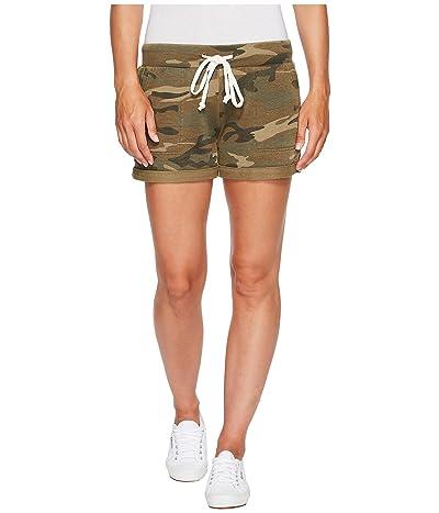 Alternative Burnout French Terry Lounge Shorts (Camo) Women
