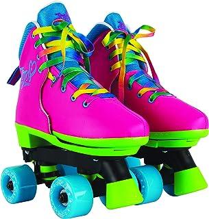Circle Society Classic Adjustable Indoor & Outdoor Childrens Roller Skates - JoJo Siwa Rainbow - Sizes 12-3