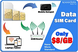 4G LTE Data Only SIM Card – USA Nationwide Domestic and International Roaming – Choose from 1GB 2GB 3GB – 30 Days No Contr...