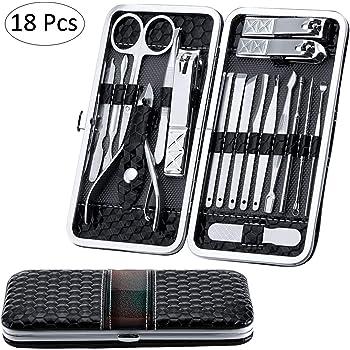 Salmue Podadoras de uñas Set Tijeras de uñas Profesionales Manicura Kit - 10 Pcs: Amazon.es: Hogar