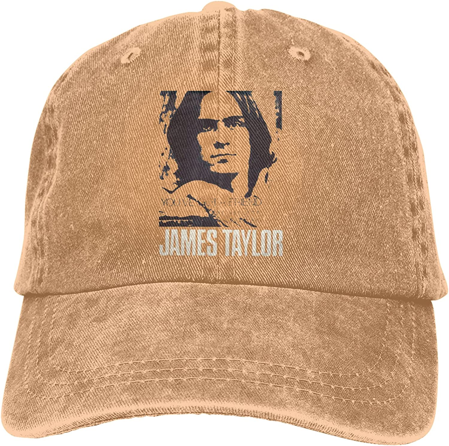 Unisex Baseball Hat Peaked Caps James Taylor Cowboy Hats for Men and Women Gray