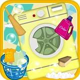Les enfants se lavent et fer à repasser - Lave-linge