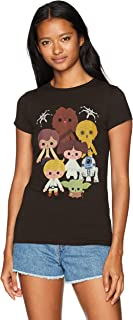 Star Wars Women's Heroes Kawaii Crew Neck Graphic T-Shirt