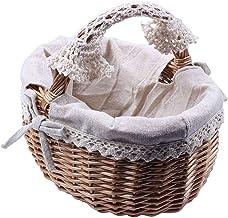 LITINGT Panier de Pique-Nique Basket Panier en Osier Boîte de Panier de Rangement en rotin Panier de Pique-Nique Paniers d...