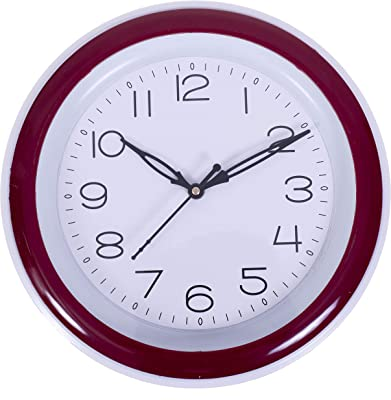 Big Bang Creations Red Color Designer Wall Clock for Home and Office (with Glass)