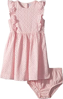 Ralph Lauren Baby - Eyelet Cotton Dress & Bloomer (Infant)