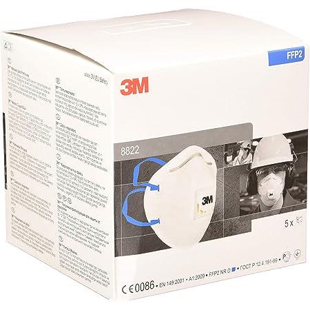 Masque antipoussière coque série Classique 3M™ 8822 - FFP2, avec soupape Coolflow™, Certifié EN sécurité