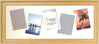 Invo8 British Made Picture/Photo Frame Strand Oak 25x10 (62.50x25.40cm) Multi Aperture