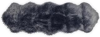 Nouvelle Legende Faux Fur Sheepskin Premium Rug Duo (23 in. X 73 in.) Gray