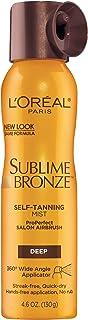 Self tanning spray by L'Oreal Paris, Sublime Bronze Self-Tanning Mist Deep Natural Tan 4.6 oz, spray tan