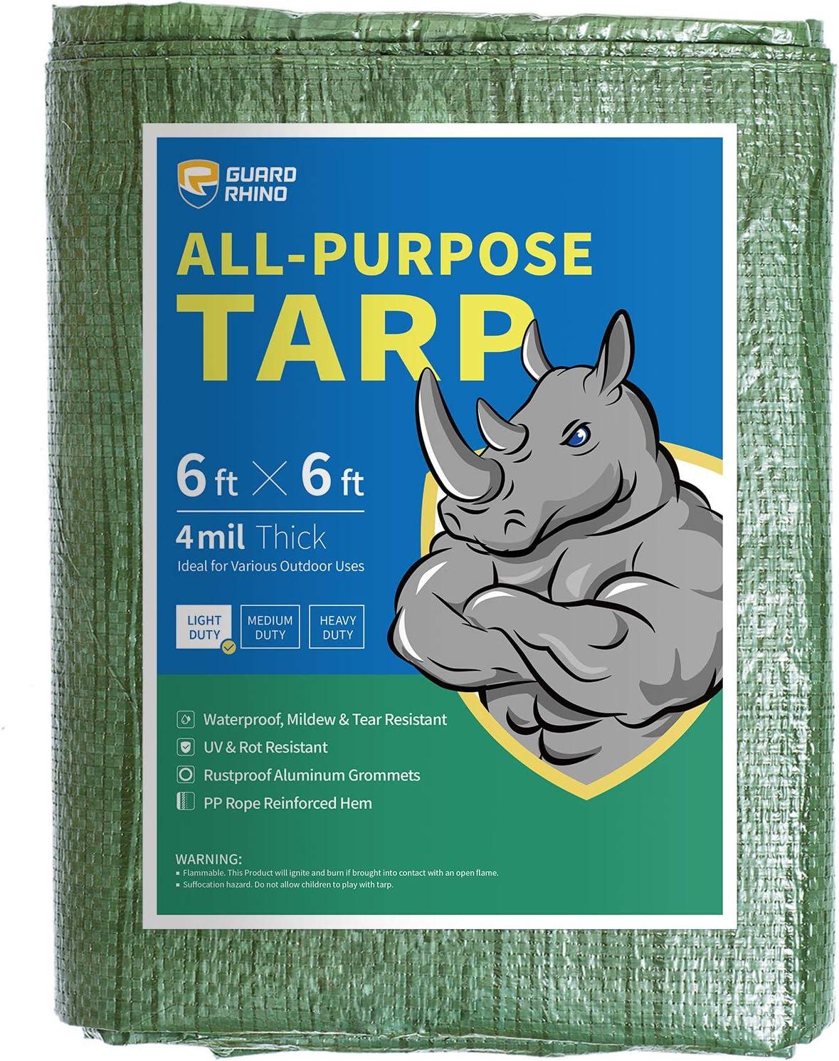 GUARD RHINO Tarp New product type It is very popular 6x6 Feet Green Purpose Ta Waterproof Multi Poly