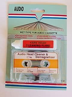 AUDIO CASSETTE TAPE HEAD CLEANER & DEMAGNETIZER WET-TYPE FOR HOME CAR OR PORTABLE DECKS