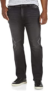 True Nation by DXL Big and Tall Athletic-Fit Stretch Jeans, Black