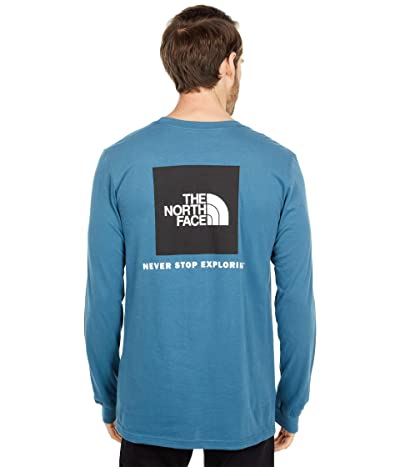 The North Face Box Nse Long Sleeve Tee (Mallard Blue) Men