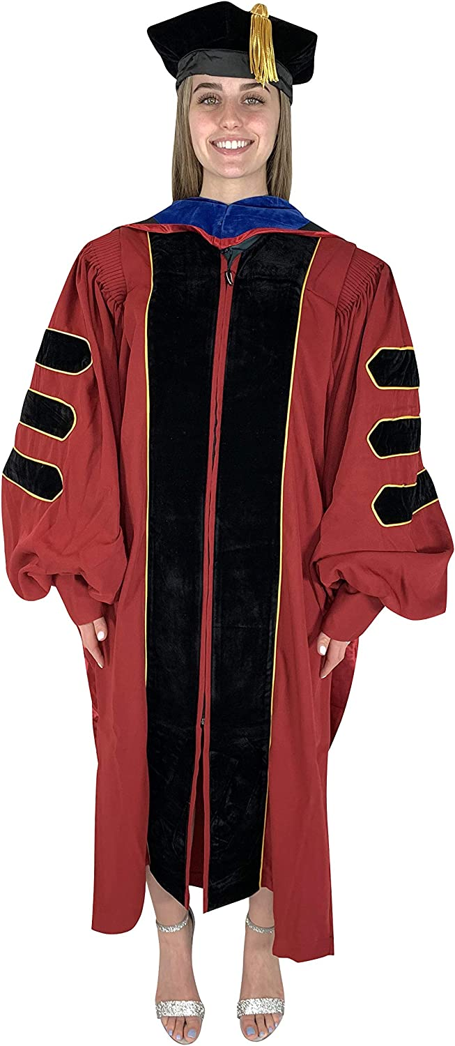 Cappe Diem Doctoral Wine Gown Hood Tam 早割クーポン 100%品質保証! and Package Multiple H
