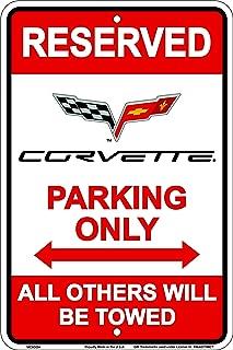 Best corvette parking sign Reviews