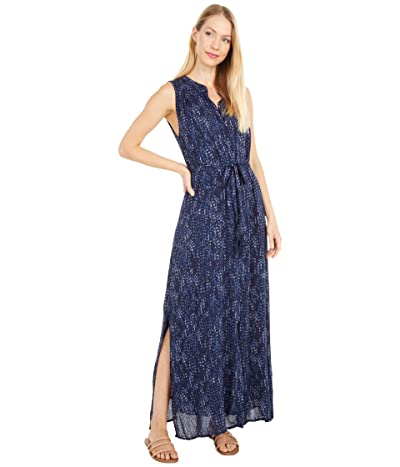 bella dahl Short Sleeve Pleat Front Maxi Dress (Desert Night) Women