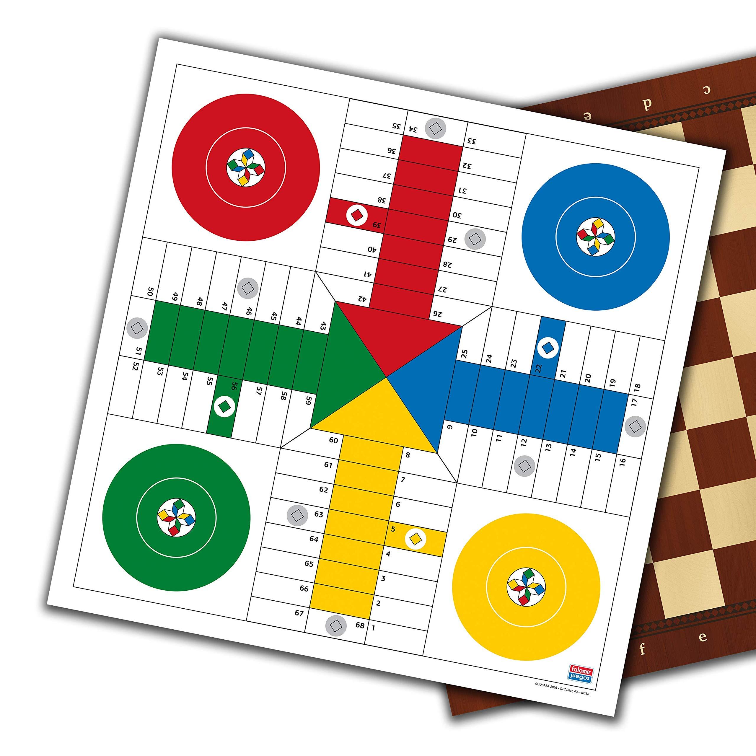 Falomir- Tablero Parchís-Dama 33 cm Mesa. Juego Clásico. (27907): Amazon.es: Juguetes y juegos