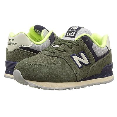 New Balance Kids IC574v1 (Infant/Toddler) (Dark Covert Green/Pigment) Boys Shoes