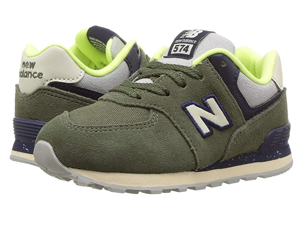 New Balance Kids IC574v1 (Infant/Toddler) (Dark Covert Green/Pigment) Boys Shoes