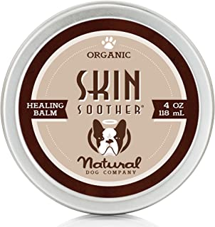 Natural Dog Company - Skin Soother | Organic, All-Natural Healing Balm - Treats Hot Spots, Bacterial Folliculitis, Dermatitis, Alopecia, Mange, Dry Flaky Skin