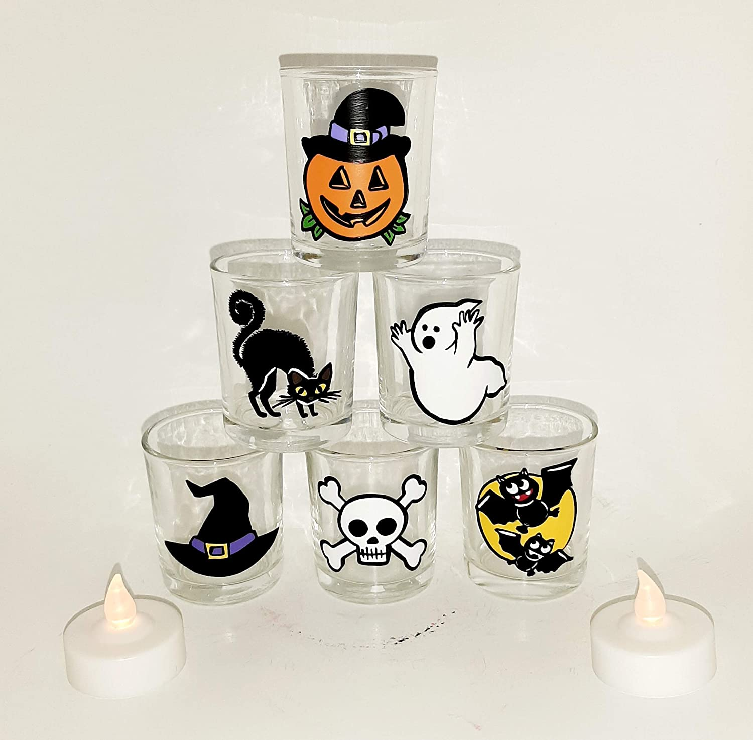 Halloween votive Department store candle holders set Seasonal Wrap Introduction of 6