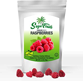 Sponsored Ad - Segufresh Freeze Dried Raspberries (2 Pack) 100% Natural Food Product | Nutritious And Delicious Crunchy|Gl...