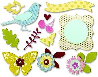 Sizzix 660256 Outil de Scrapbooking Thinlits Die Set 23 Pièces Corounne Florale de Brenda Walton