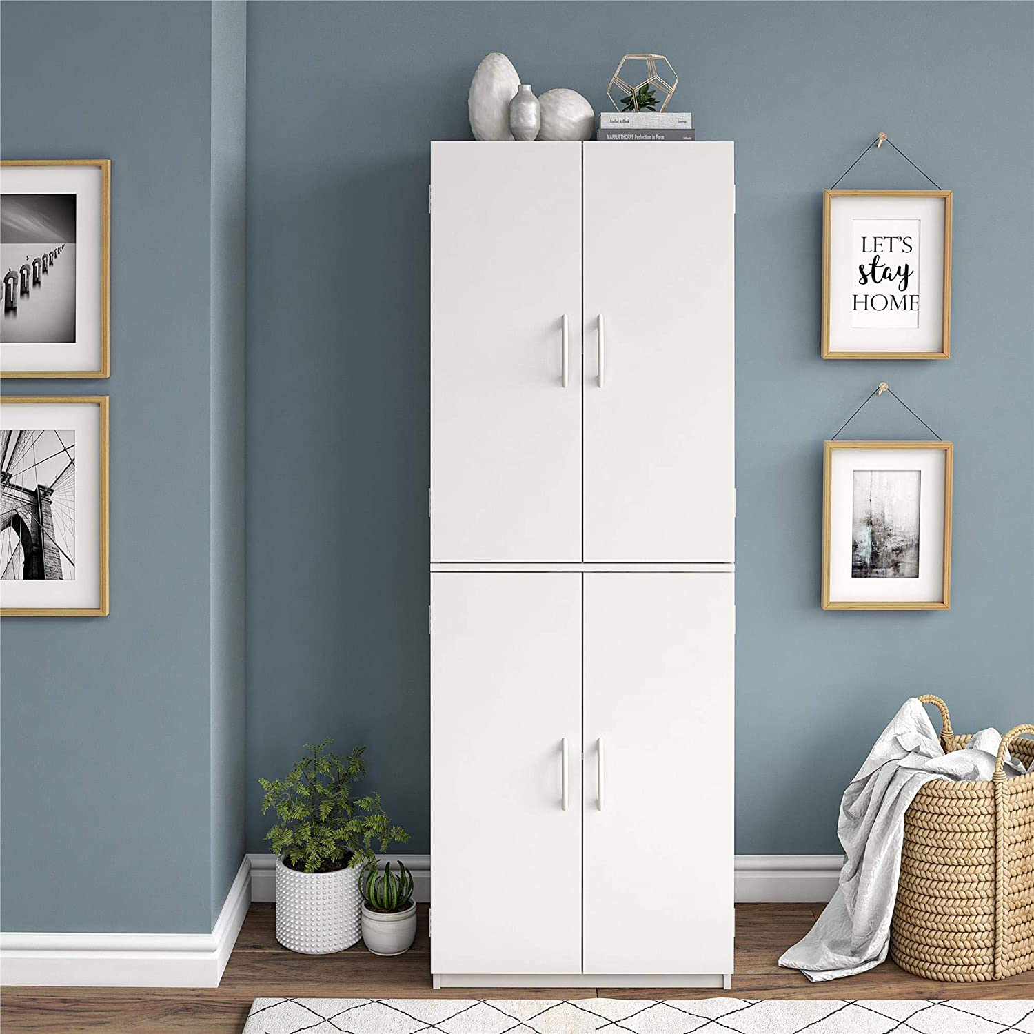 Animer and price revision Mainstays Max 85% OFF Storage Cabinet Stipple White