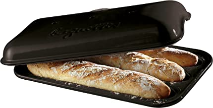 Emile Henry Made In France Baguette Baker, 15.4 x 9.4