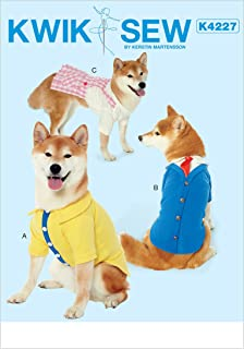 McCall's Patterns K4227OSZ Dog Clothes Sewing Pattern, 3pc
