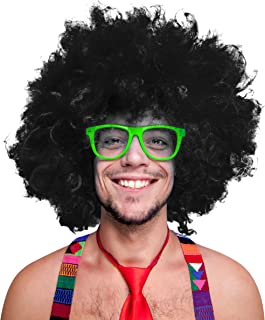 280g XXL AFRO PERÜCKE Lockenkopf WIG Black Afroperücke Lockenperücke Fasching Karneval schwarz, weiß, blond, rot, türkis, ...