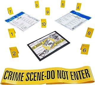 Kobe1 Crime Scene Kit:Crime Scene Tape Do Not Enter (6mx1),Evidence Bags (x2),Photo Evidence Frames(Cards:1 to 10),(7cm x ...